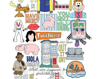 Full House Collage Print (11x14) - FREE SHIPPING