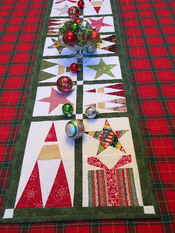 Christmas table runner door panel wall hanging pdf pattern fpp