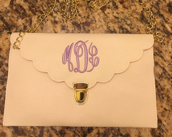 Monogram Bridesmaid Clutch - Cream - Clutch Bags- Wedding Shower Gifts