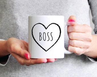 Boss Mug Boss Coffee Mug Funny Coffee Mug Ceramic Mug Girlfriend Gift Wife Gift Mom Gift Funny Gift Coworker Gift Sister Gift Dad Gift