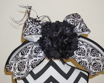 All Black and White Kentucky Derby Hat