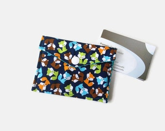 Fox Business card case, loyalty card holder, business card case, credit card holder, fabric business card holder