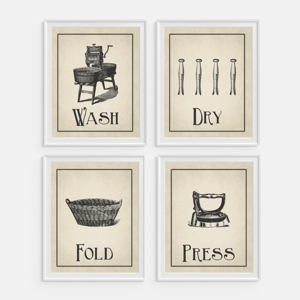 Laundry Room Wall Art Printable 8x10 Instant Download Print |Laundromat Wall Art