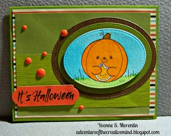 It's Halloween ...  Watercolor Greeting Card