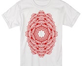 Men's REPEATER Shirt Sacred Geometry Dotwork Tattoo Style Kaledoscope Psychedelic T-Shirt
