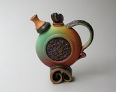 "Sculptural Tea Pot 9"" x 8"" x 3 1/4"""