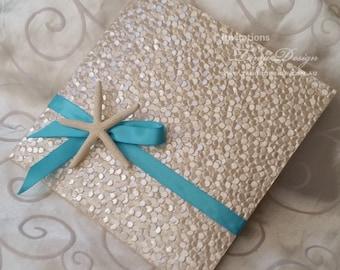 STARFISH wedding invitation | Luxury Pocket BEACH theme invites SAMPLE | Destination travel card set,  rsvp cards suite | Summer invite