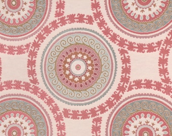 Fabric Deal - 31371.517 by Kravet Design - high end medallion suzani upholstery fabric