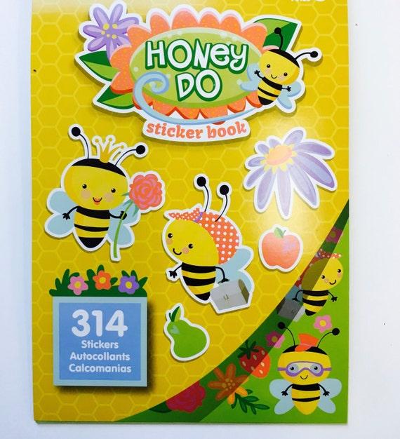 314 Happy Honey Doo Bee Bumblebee Stickers Book Craft Activity Rewards Teacher Supply