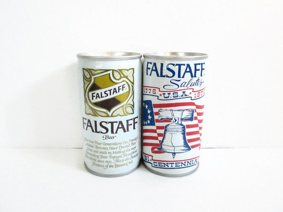 Vintage Beer Can LOT Falstaff Beer Bicentennial Can