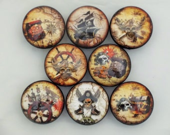 Set of 8 Pirate Cabinet Knobs