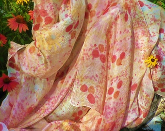 Silk Belly Dance Veil Polka Dot Silk Veil