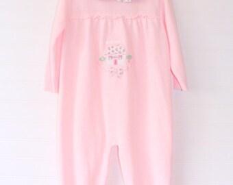 Vintage baby jumper. Pink jumper, Savannah Baby jumper for 18-24 Mo