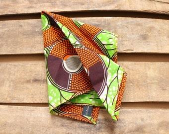 Men's Pocket Square Handkerchief, African Print Men's Accessories. Pocket Handkerchief.