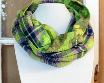 Green With Envy Infinity Scarf