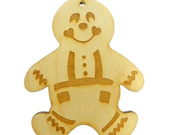Gingerbread Man Ornament - Gingerbread Man Ornaments - Gingerbread Man Gift - Gingerbread Man Gifts - Personalized Free