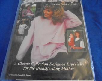 Sz 4-20 Uncut Elizabeth Lee Designs Nursing Classics 207 or Maternity Top Tunic Dress  Sewing Pattern