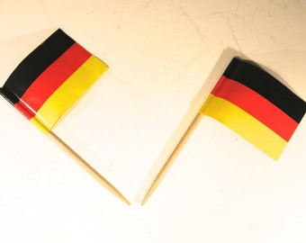 "50pc ""Germany flag"" tooth pick / cake topper (D44)"
