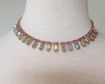 aroura borealis choker necklace