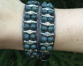 Chan Luu inspired double wrap bracelet