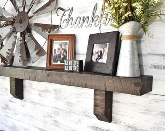 Mantel Shelf, Corbel Shelf, Fireplace Mantel, Large Wooden Mantel, Solid Wood Beam, Rustic Wall Shelves, Floating Wall Shelves,