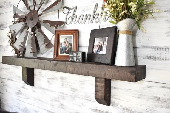 Mantel Shelf, Corbel Shelf, Fireplace Mantel, Large Wooden Mantel, Solid  Wood Beam - Mantel Shelf Corbel Shelf Fireplace Mantel Large Wooden