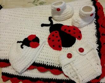 Lady Bug inspired Baby Bundle