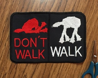 AT-AT Walker crosswalk sign 6X4in. Sew-on patch