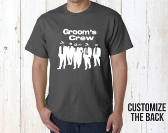 Groom's crew bachelor party shirts.Groomsmen shirts.Groomsmen gift. Stag party tops.Stag party shirts