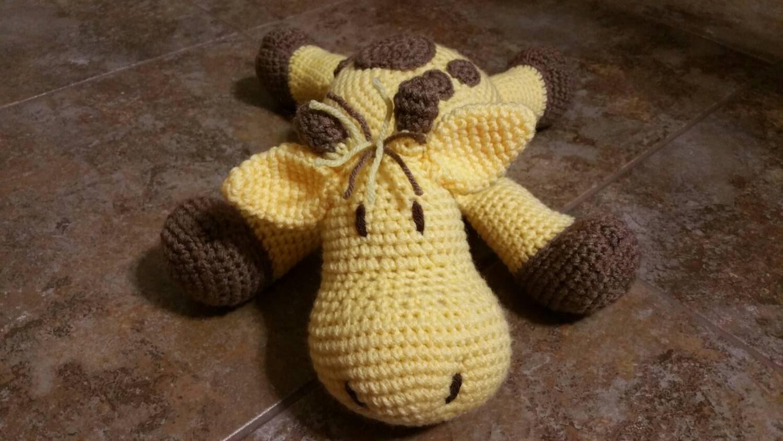 Cuddly Amigurumi Giraffe : Soft and cuddly Crochet Geoffrey the Giraffe Pillow Pal