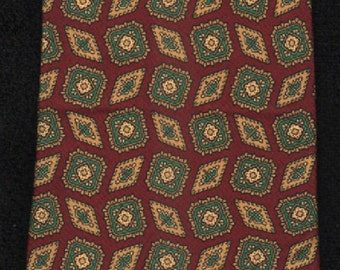 Silk Tie Henry Grethel Paisley Print Tie-GORGEOUS-Please Check Our Three Photos  Excellent Customer Feedback AndOur Free ShippingOffer