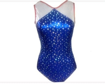 Red,white and blue gymnastics leotard for girls