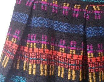 90s Short Pleated Wool Skirt/ Jo Jr Dallas High waisted wool mini skirt / small