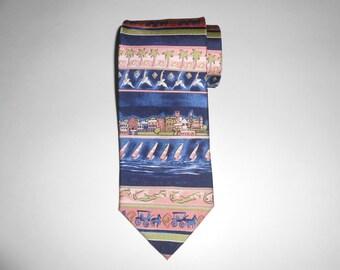 ENGLISH SPORTS SHOP Bermuda // 100 Silk Necktie // 90s // Vintage // Groom Gift / Groomsmen Gift / Wedding