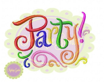 Party!l Machine Embroidery Design