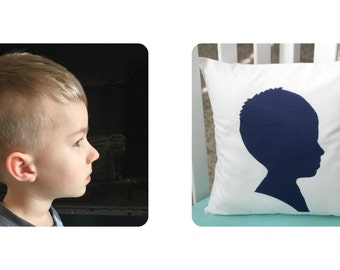 "Custom Personalized Silhouette 14"" x 14"" Pillow Cover"