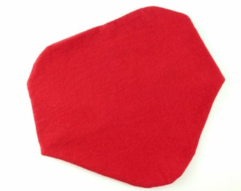 Red Baby Bib - Red Baby Drool Bib - Plain Bibs - Red Bandana Bib - Red Teething Bib - Plain Red Bib - Solid Red Bib