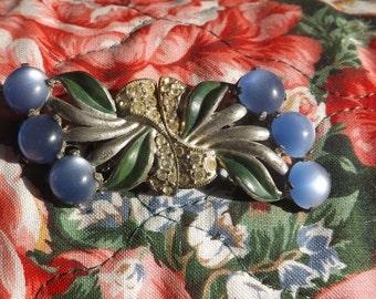 Vintage 1940's Rhinestone Earring Brooch