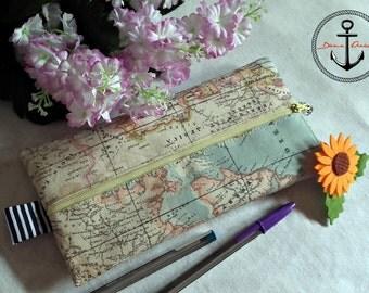 Atlas mapa mundi pencilcase