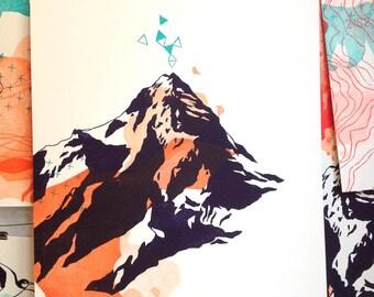"""engraving """"large mountain #2"""""""