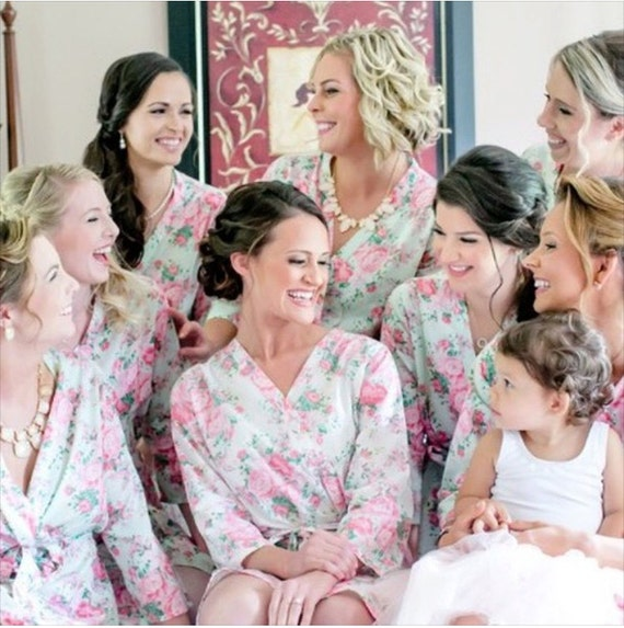 floral robes bridesmaid robe