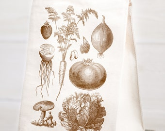 Vintage Vegetables Reusable Lunch Bag | Gardener Gift, Ecology Biology Garden Science Plants Nerdy Farm to table