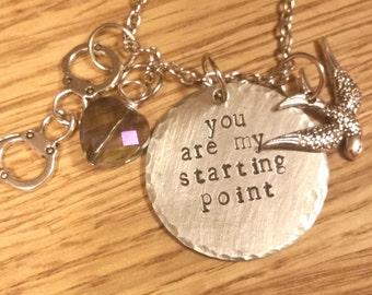 Blindspot-Jeller Hand stamped necklace-Kurt Weller and Jane Doe