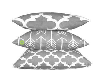 50 x 50 cm 1 pillowcase ARROW grey white arrows graphically