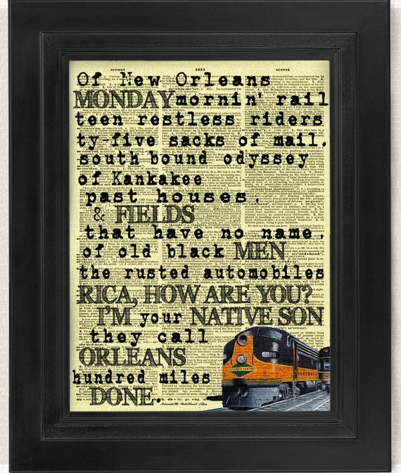 City Of New Orleans 2 Print Set Calligraphy Transformative
