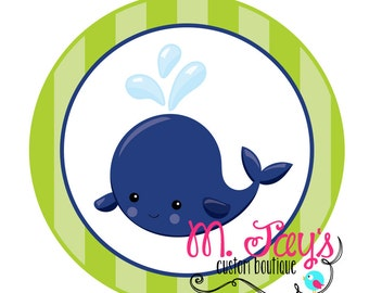 Whale Party Printable Cupcake Toppers- 3 Designs Included