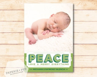 Peace, Love & Merry Everything  // Holiday Photo Card