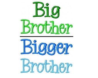 Big-Bigger-Biggest Brother Embroidery Designs PES-INSTANT DOWNLOAD-