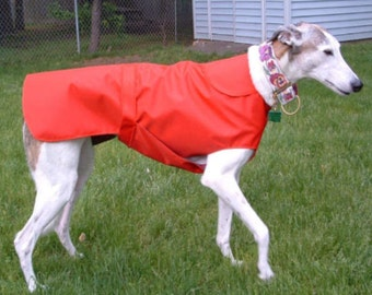 R3 Light Weight Red Greyhound Raincoat.  Free Shipping!