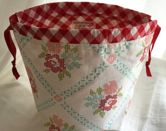 SockSack Sock Knitting Bag Small Knitting Project Bag